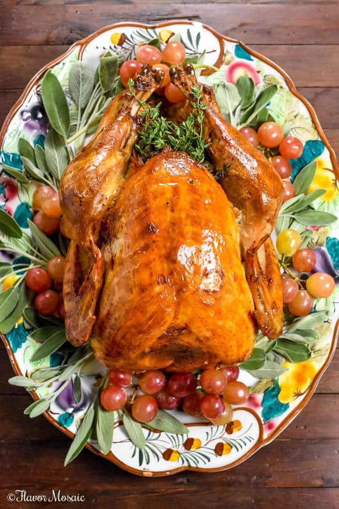 Roasted Thanksgiving Turkey  Roast Turkey with Apple Cider Brine Flavor Mosaic