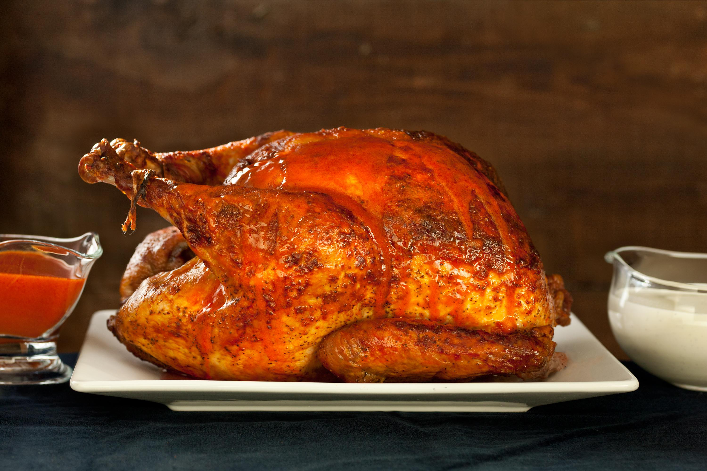 Roasted Thanksgiving Turkey  Buffalo Roasted Turkey with Blue Cheese Sauce