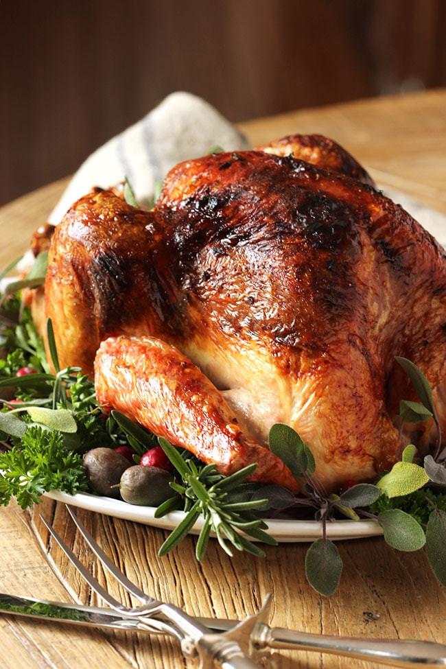 Roasted Thanksgiving Turkey  Citrus and Herb Butter Roast Turkey Recipe The Suburban