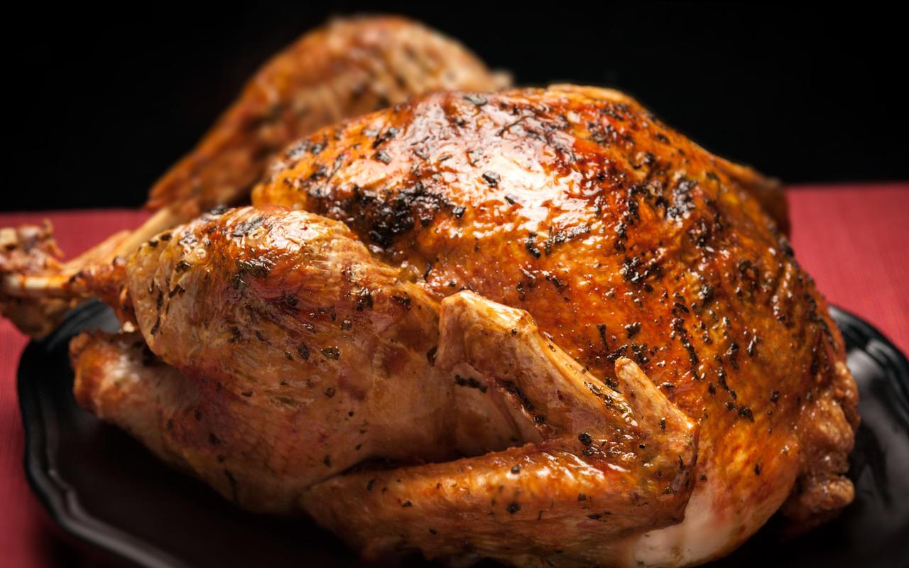 Roasted Turkey Recipes Thanksgiving  Roast Turkey with Herb Gravy Recipe Chowhound