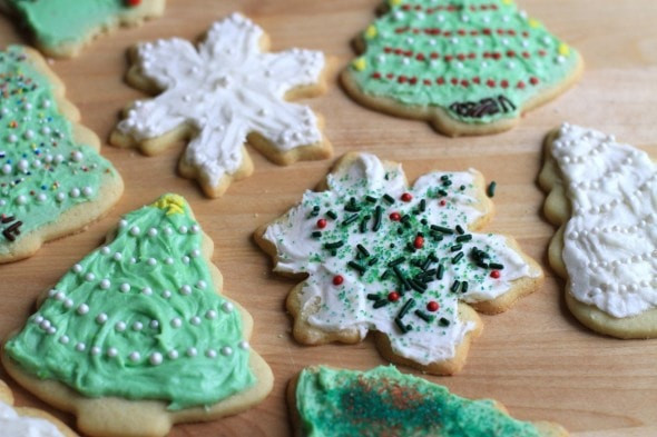 Roll Out Christmas Cookies  Rolled Cut Out Christmas Sugar Cookies The Frugal Girl