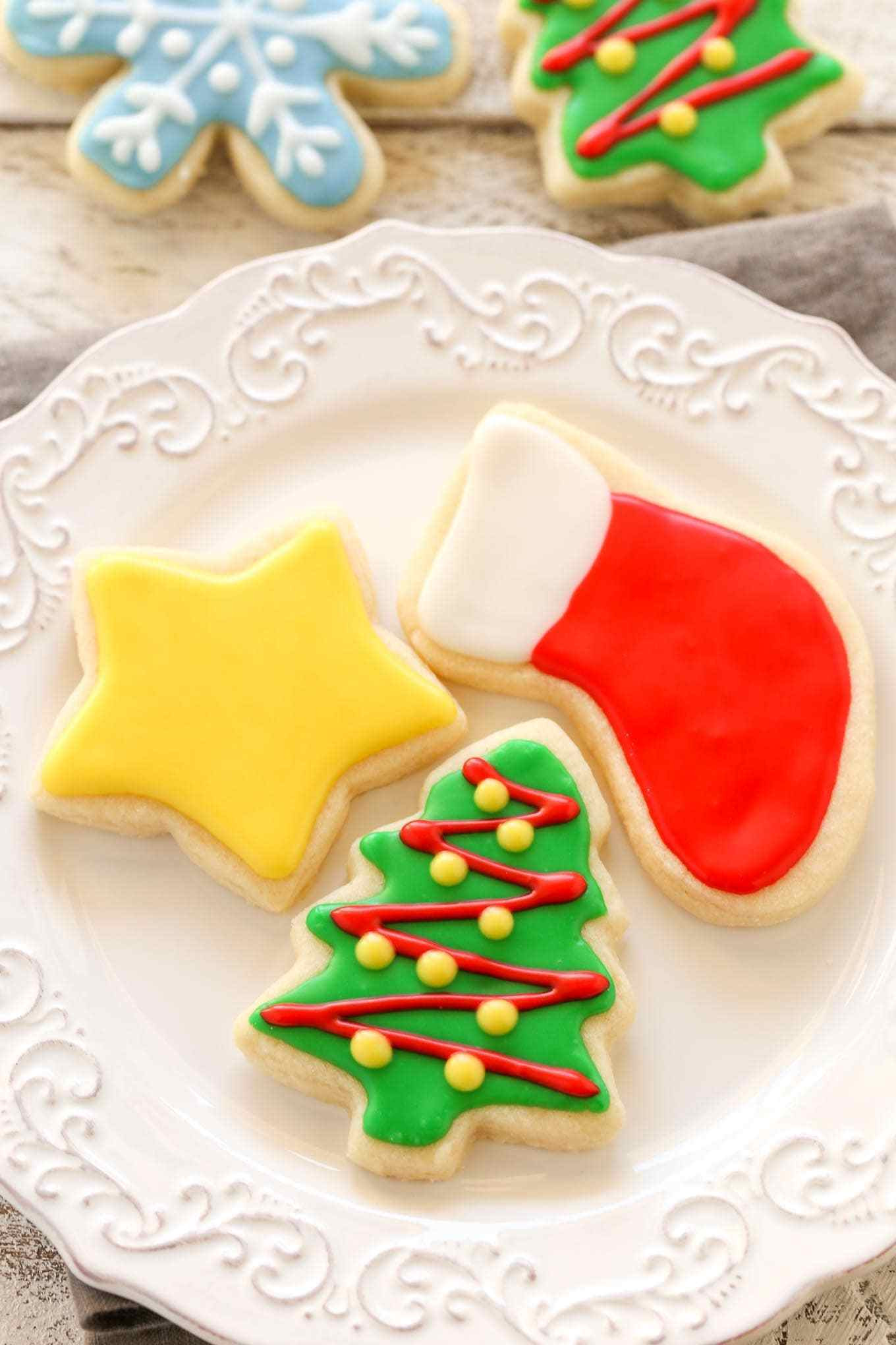 Roll Out Christmas Cookies  Soft Christmas Cut Out Sugar Cookies Live Well Bake ten