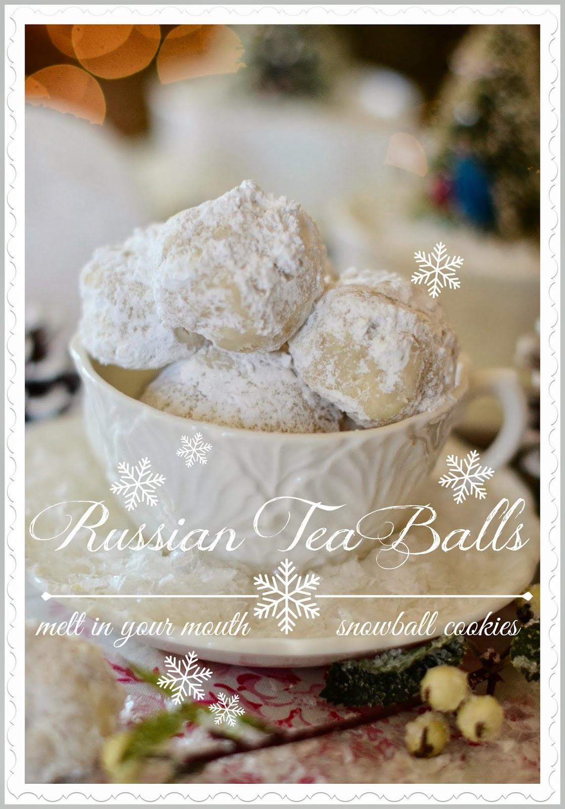 Russian Christmas Cookies  RUSSIAN TEA BALL COOKIES StoneGable