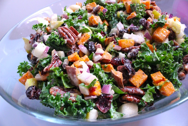 Salads For Thanksgiving Dinner  Thanksgiving Kale Salad with Maple Lemon Tahini Dressing