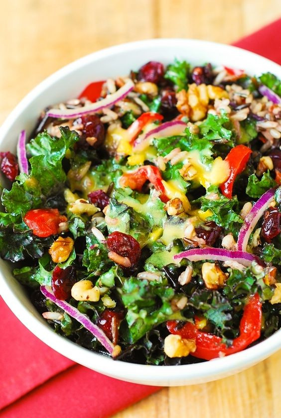 Salads For Thanksgiving Dinner  Kale salads Kale and Thanksgiving salad on Pinterest