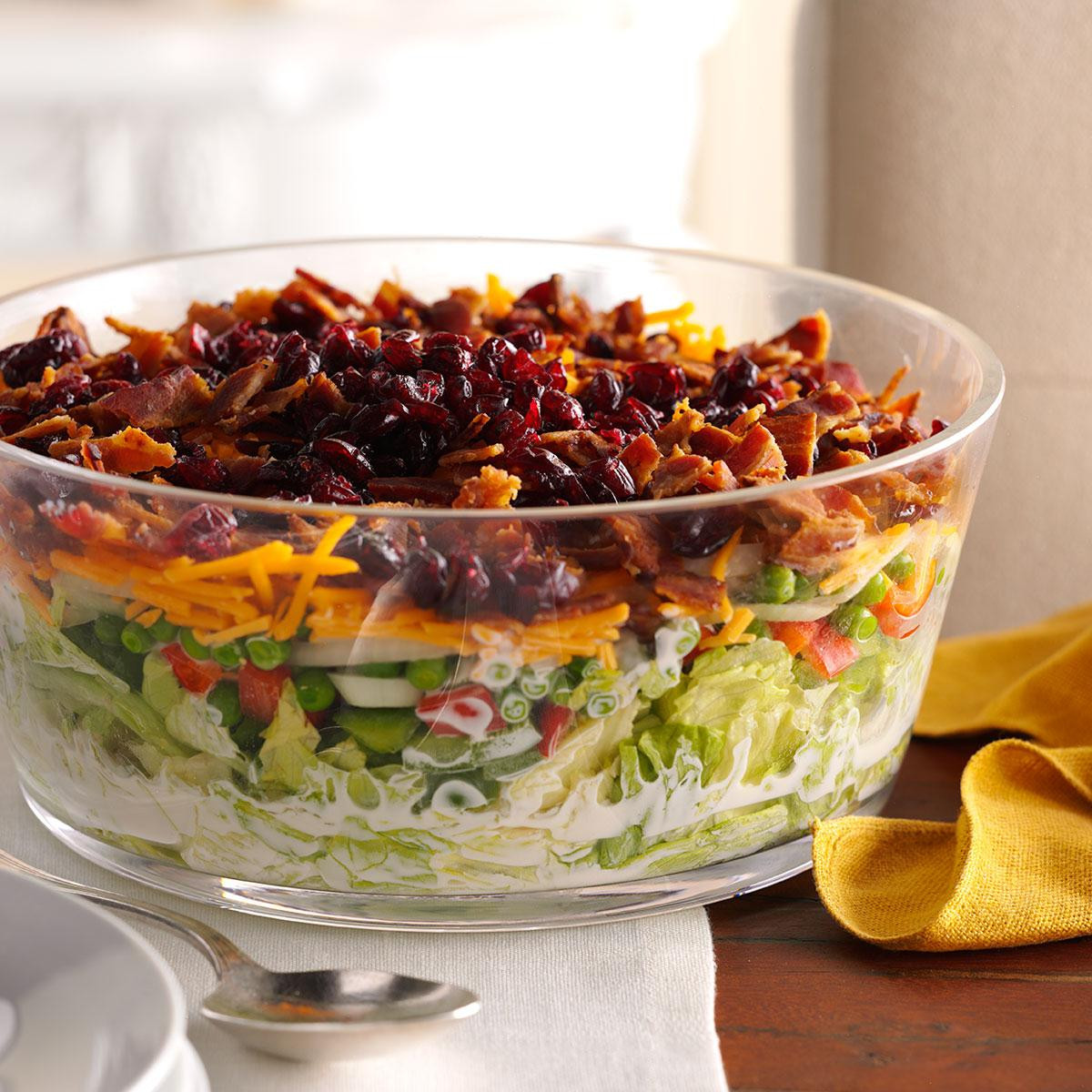 Salads For Thanksgiving Potluck  Overnight Layered Lettuce Salad Recipe