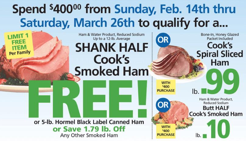 Shoprite Thanksgiving Dinner  ShopRite Holiday Dinner Promo Earn a FREE Turkey Ham