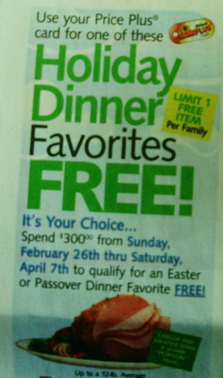 Shoprite Thanksgiving Dinner  ShopRite Easter Passover Dinner Promotion