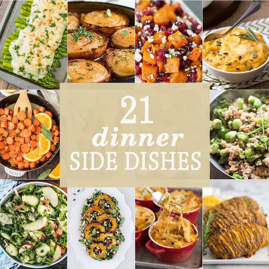 Side Dishes For Christmas Buffet  21 Dinner Side Dishes The Cookie Rookie