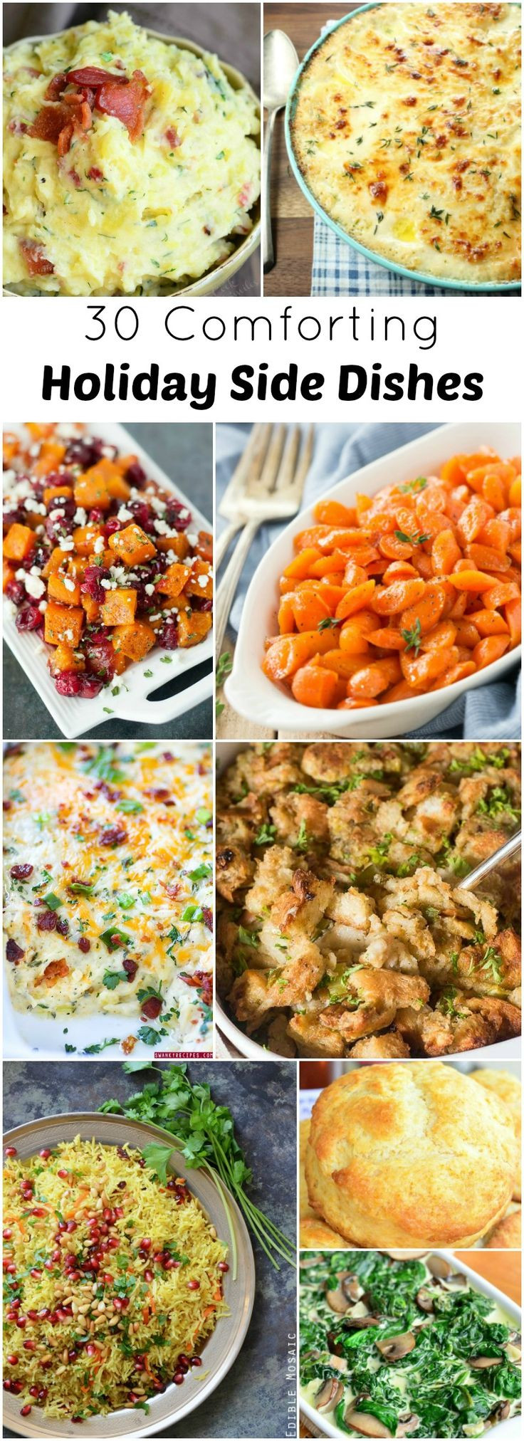 Side Dishes For Christmas Buffet  Best 20 Holiday Side Dishes ideas on Pinterest