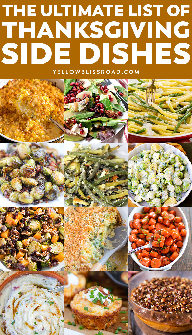 Side Dishes For Thanksgiving Turkey Dinner  Thanksgiving Side Dishes