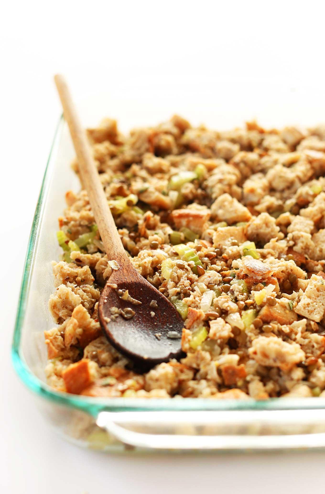 Simple Vegetarian Thanksgiving Recipes  Simple Vegan Stuffing