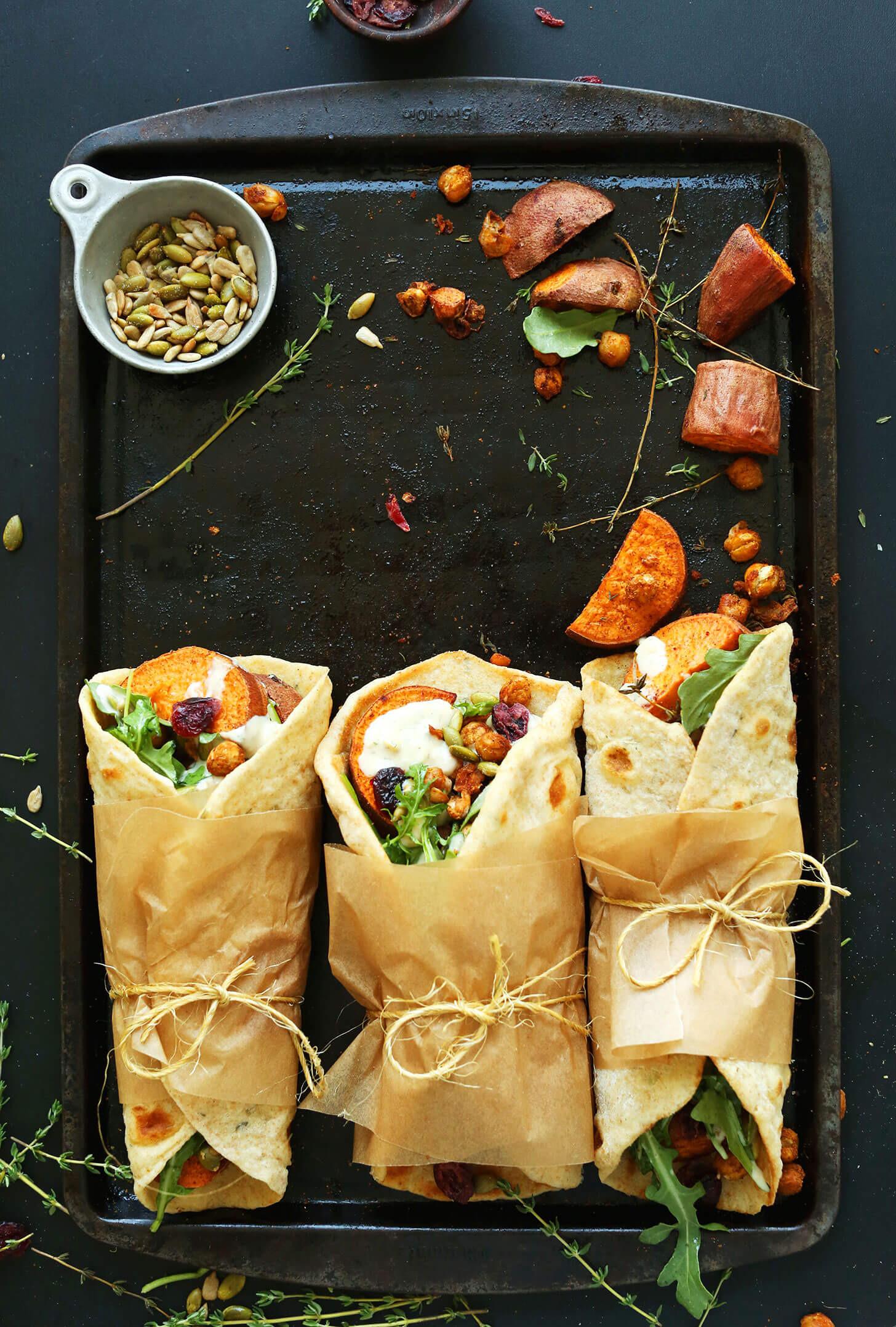 Simple Vegetarian Thanksgiving Recipes  Vegan Thanksgiving Wraps Natures Fare