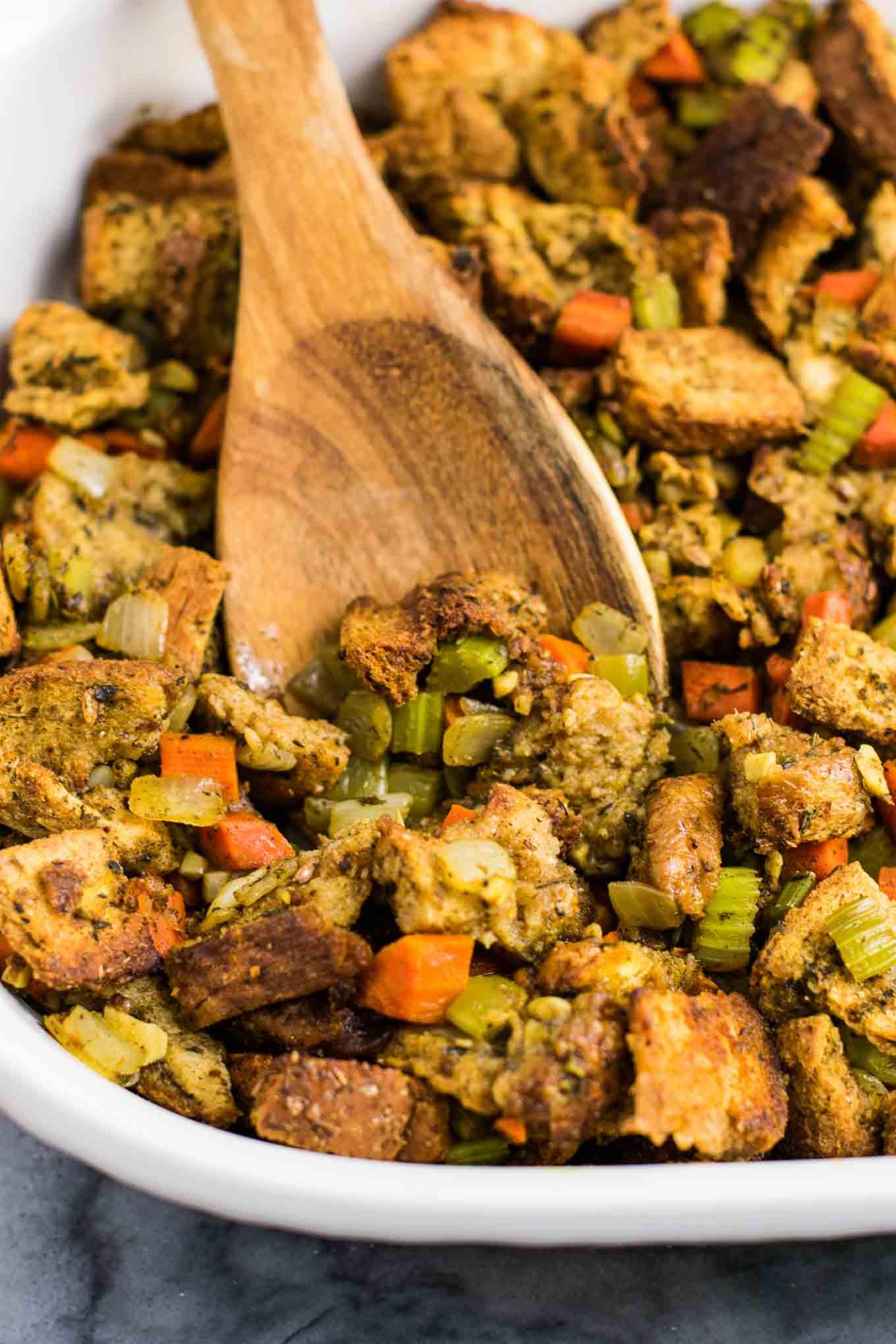 Simple Vegetarian Thanksgiving Recipes  The Best Easy Vegan Stuffing Recipe Build Your Bite