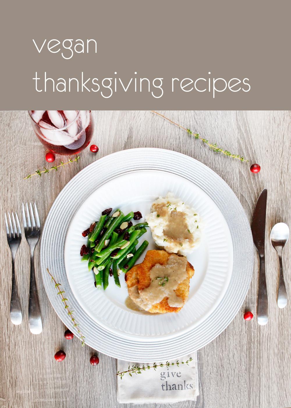 Simple Vegetarian Thanksgiving Recipes  easy vegan thanksgiving recipes with thyme and cranberry
