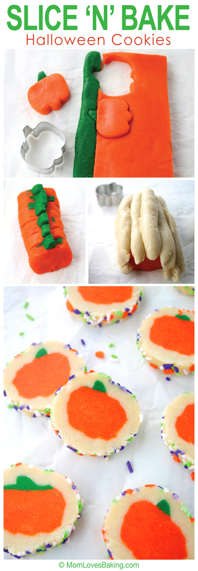 Slice And Bake Halloween Cookies  Slice N Bake Halloween Cookies