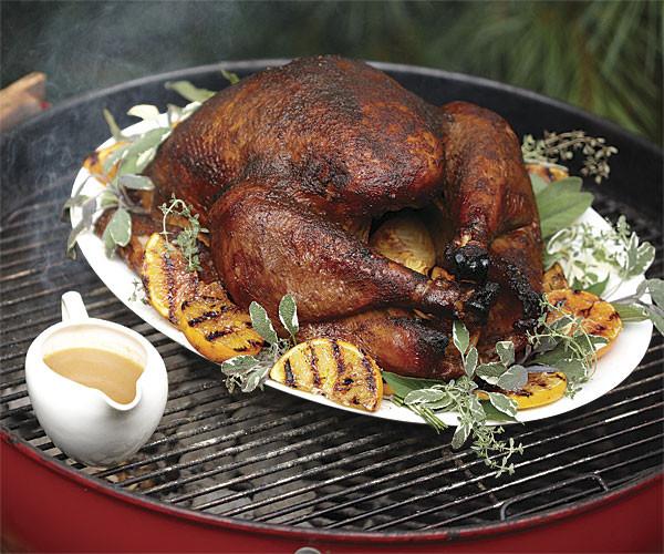 Smoked Turkey For Thanksgiving  Bacon Wrapped Smoked Turkey Recipe FineCooking