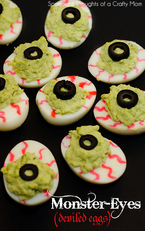 Spooky Deviled Eggs Halloween  Gross Halloween Treats