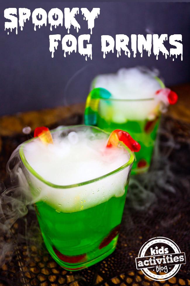 Spooky Halloween Drinks  Halloween Party Drink Spooky Fog Drinks