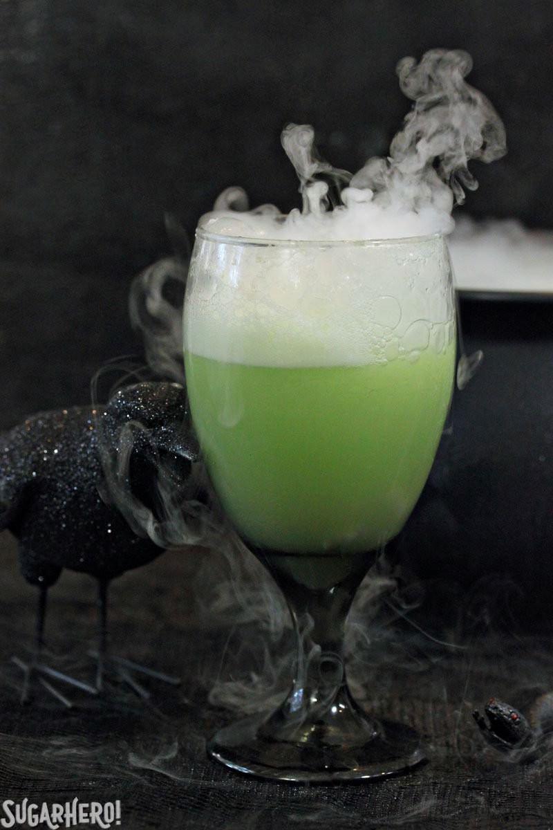Spooky Halloween Drinks  Witch s Brew Halloween Punch SugarHero