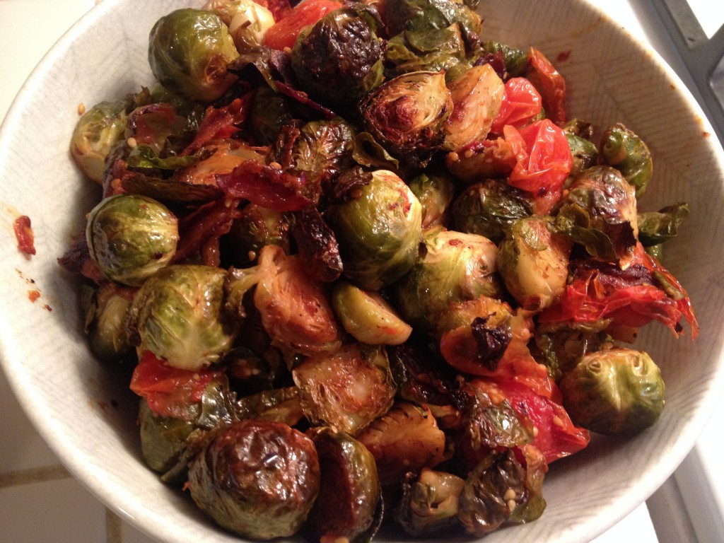 Sprouts Thanksgiving Turkey  Thanksgiving Roasted Brussel Sprouts with Bacon and