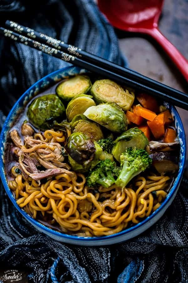 Sprouts Thanksgiving Turkey  Turkey Ramen Noodle Soup with Brussels Sprouts & Broccoli