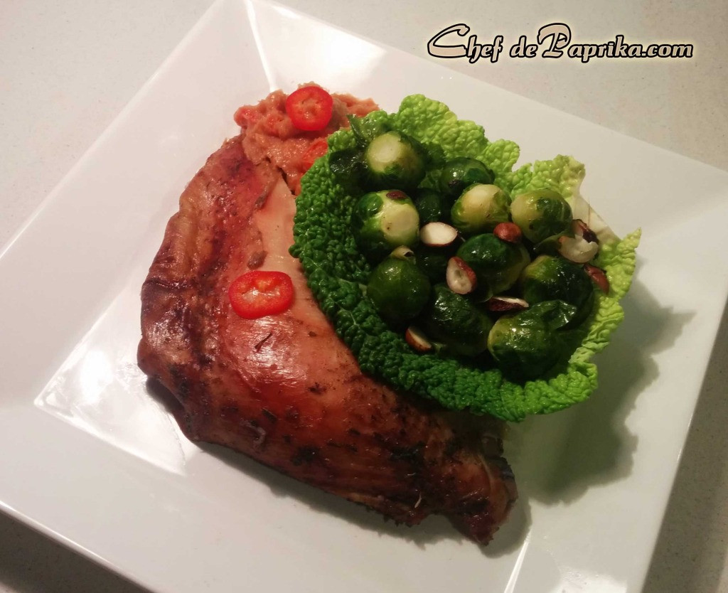 Sprouts Thanksgiving Turkey  Quince Glazed Turkey with Brussels Sprouts – Thanksgiving
