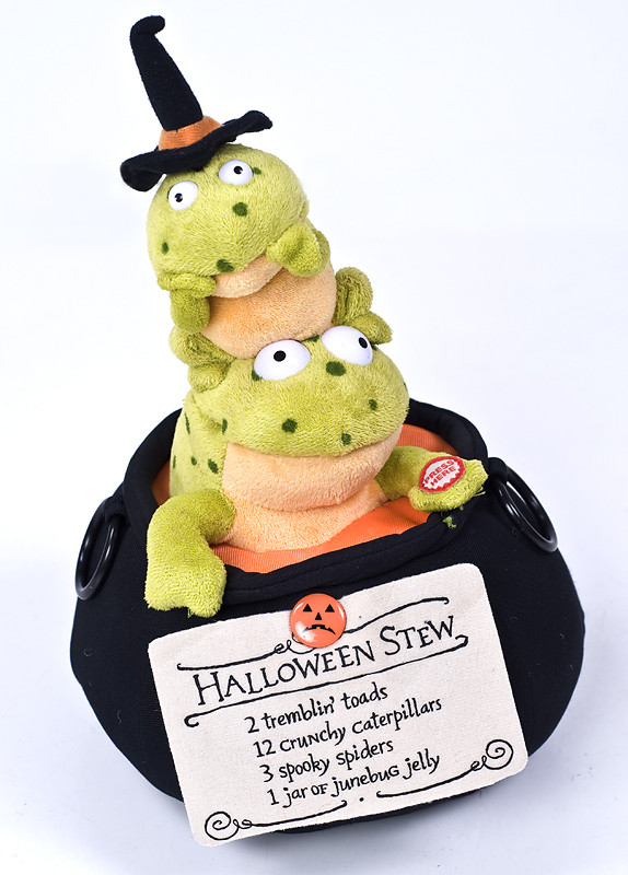Stew Brew Witch And Child Animated Halloween Decoration  Hallmark Halloween Stew SINGING ANIMATED FROGS Witches