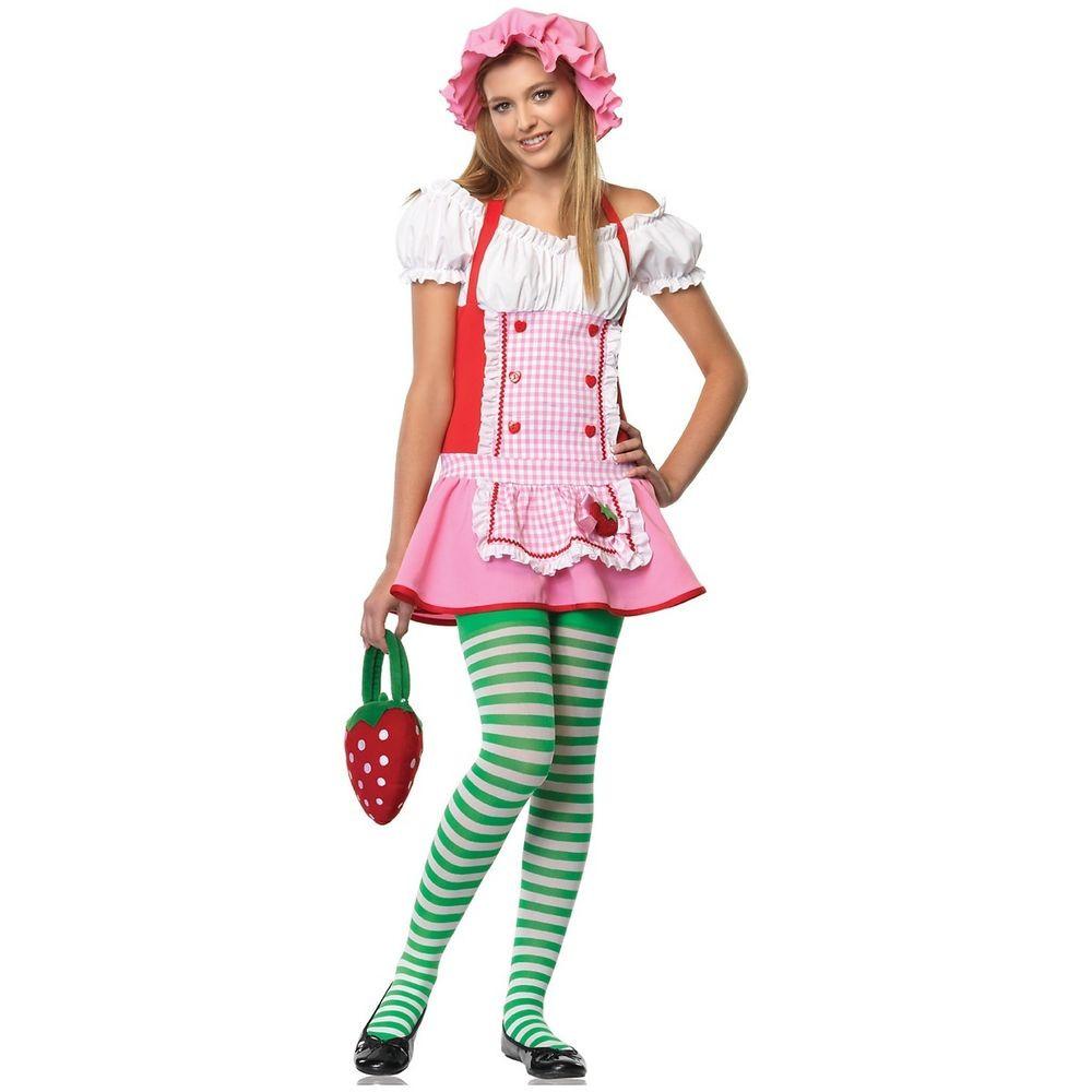 Strawberry Shortcake Halloween  Country Girl Teen Junior Preteen Tween Strawberry