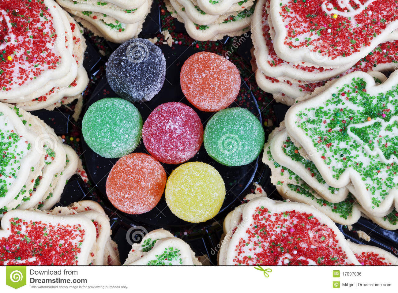 Sugar Free Christmas Candy  Christmas Cookies And Sugar Candy Royalty Free Stock Image