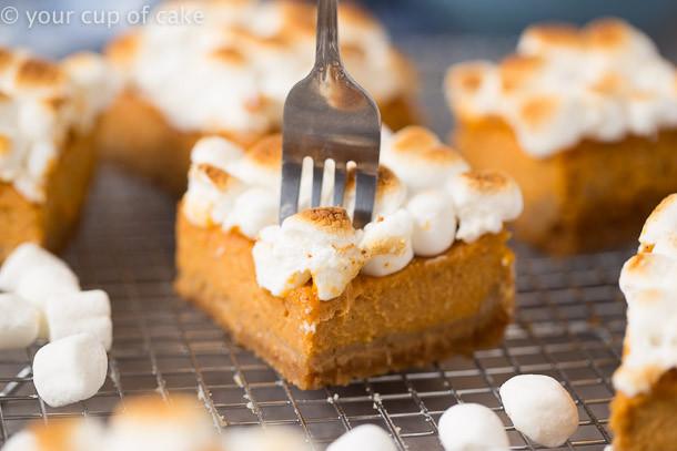 Sweet Potato Pie Thanksgiving  Sweet Potato Pie Bars for Thanksgiving Dessert Your Cup