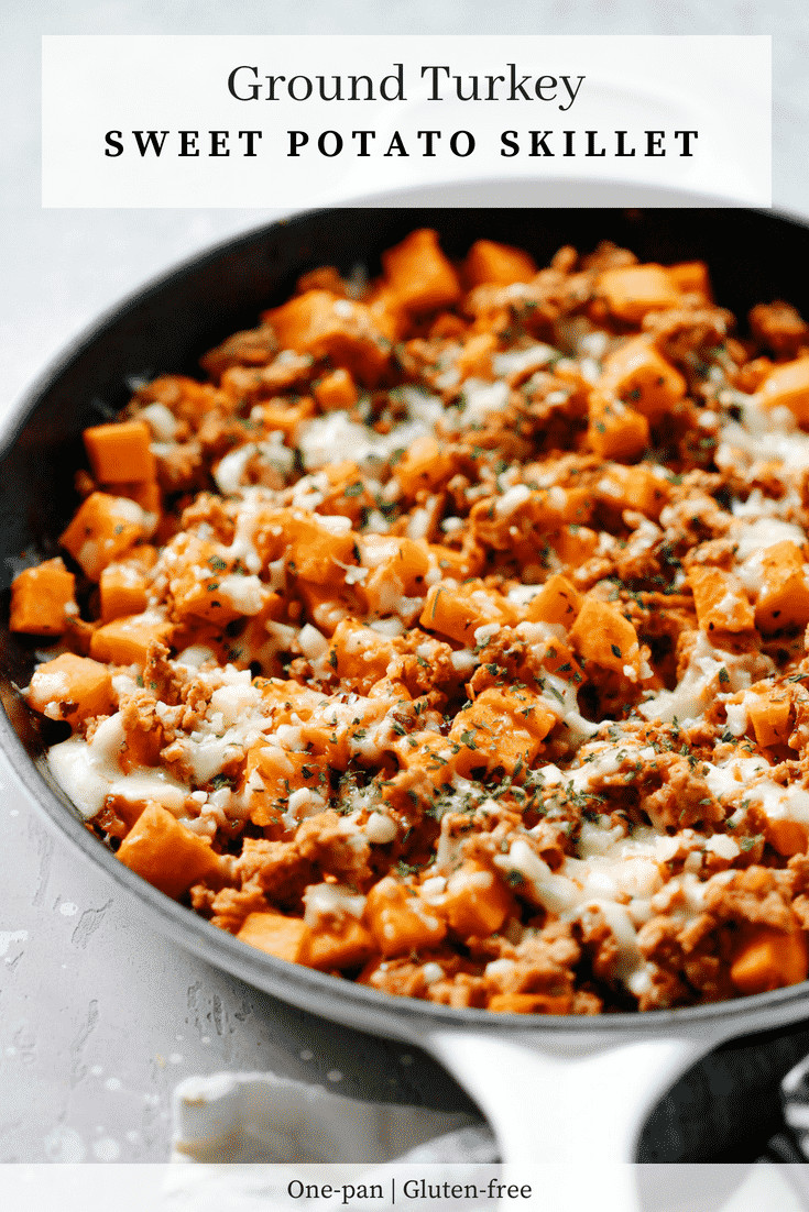 Sweet Potatoes Recipe For Thanksgiving Dinner  Ground Turkey Sweet Potato Skillet Delicious e Pan