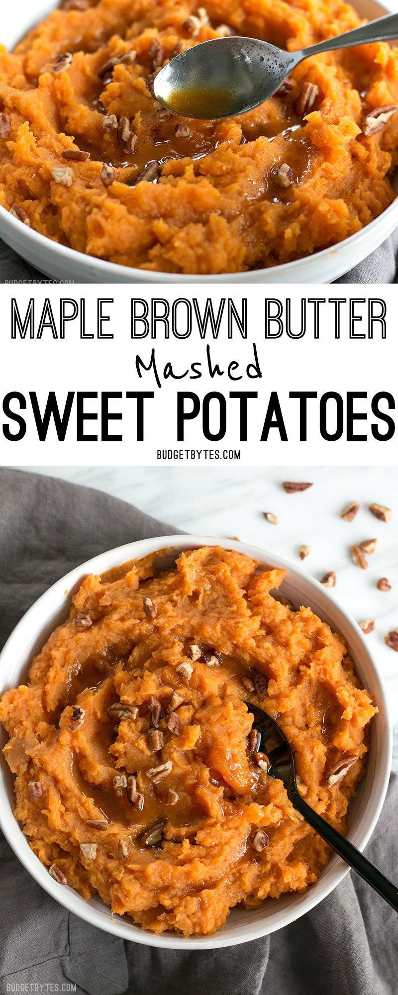Sweet Potatoes Recipe For Thanksgiving Dinner  Maple Brown Butter Mashed Sweet Potatoes Recipe
