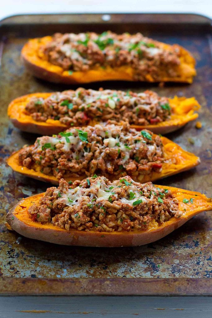 Sweet Potatoes Recipe For Thanksgiving Dinner  Turkey Taco Stuffed Sweet Potatoes 20 Minute Meal