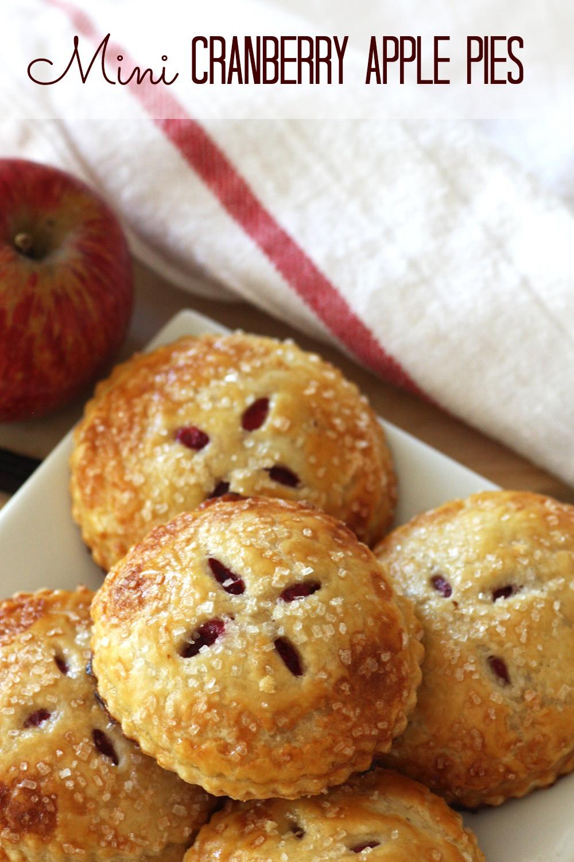 Thanksgiving Apple Recipes  Mini Cranberry Apple Pies RECIPE
