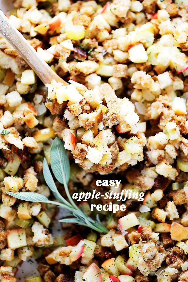 Thanksgiving Apple Recipes  17 Best images about Recipes Stuffing on Pinterest