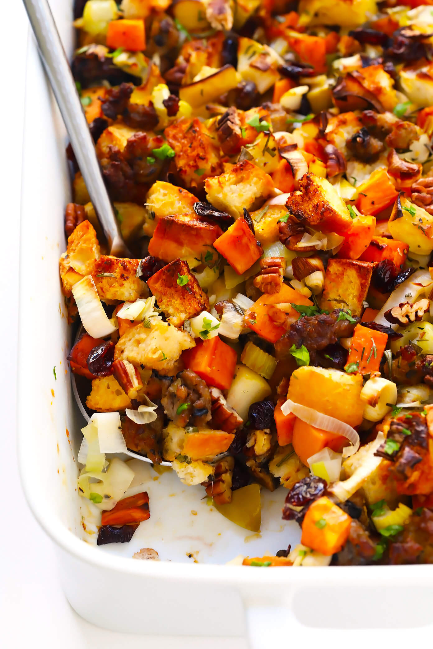 Thanksgiving Apple Recipes  The BEST Sausage and Sweet Potato Thanksgiving Stuffing