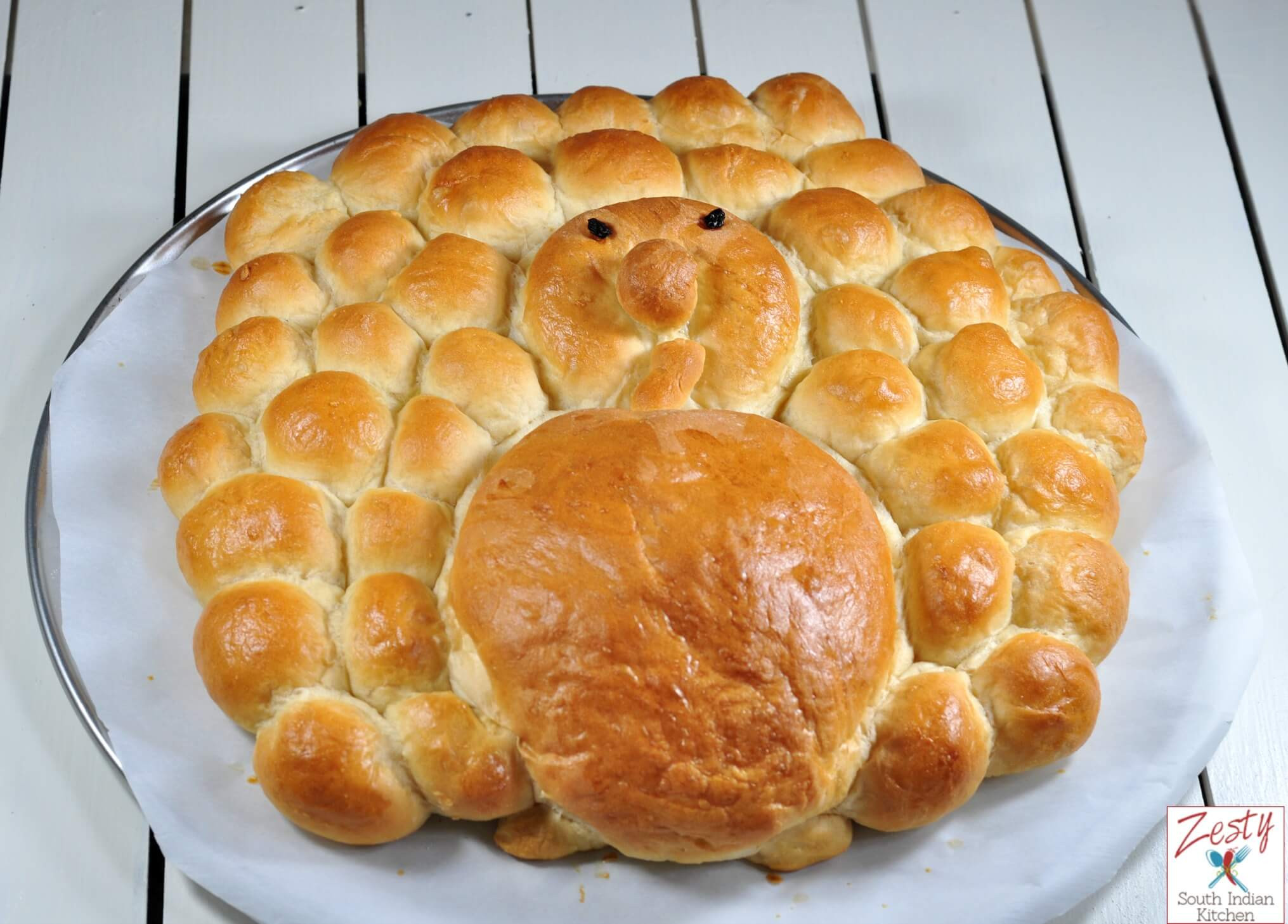 Thanksgiving Bread Recipes  Turkey Shaped Dinner Rolls Zesty South Indian Kitchen