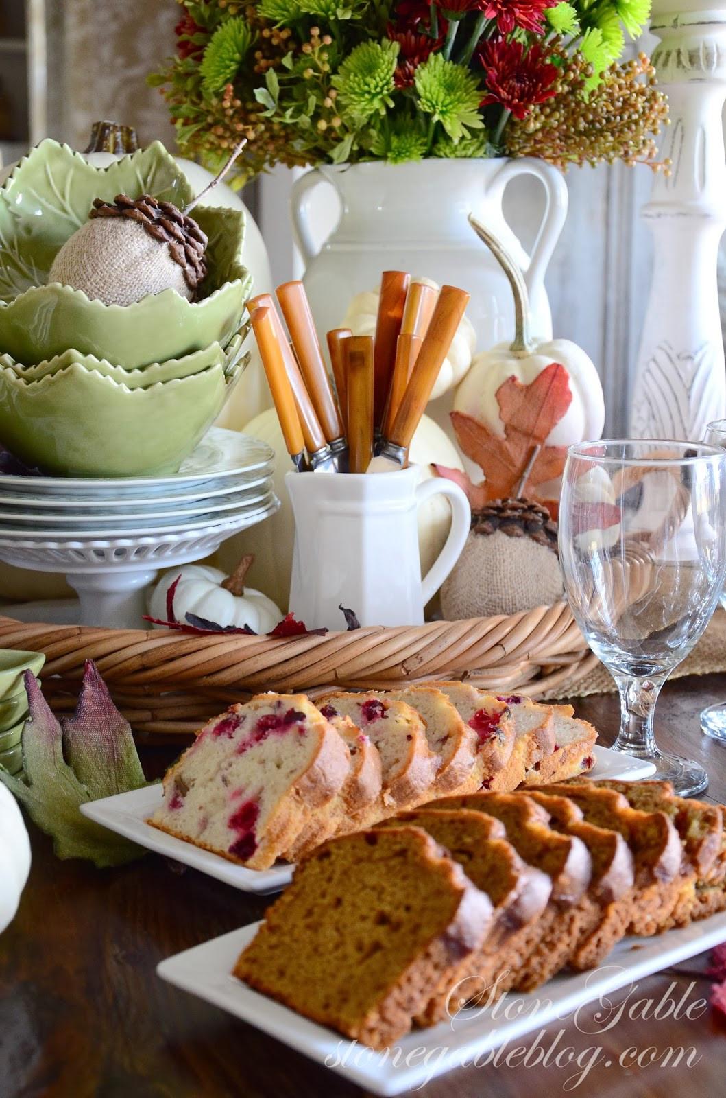 Thanksgiving Breakfast Menus  THANKSGIVING CONTINENTAL BREAKFAST VIGNETTE StoneGable