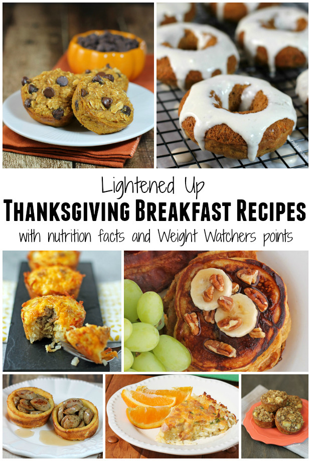 Thanksgiving Breakfast Menus  Lightened Up Thanksgiving Recipes Roundup Emily Bites