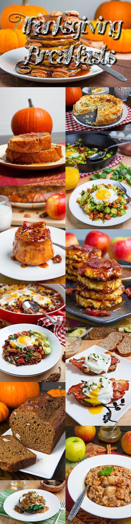 Thanksgiving Breakfast Menus  Thanksgiving Breakfast Recipes on Closet Cooking