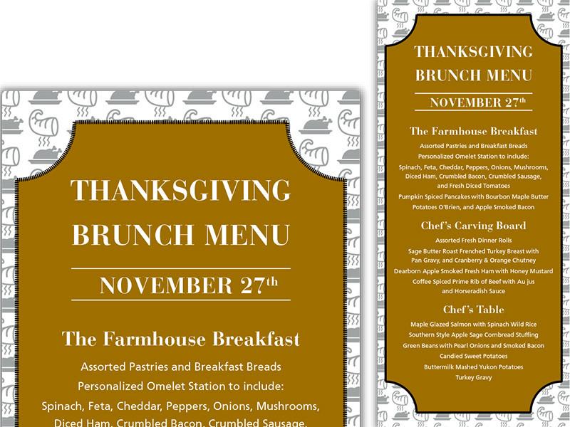 Thanksgiving Breakfast Menus  Thanksgiving Brunch Menu by Irisi Tole Dribbble
