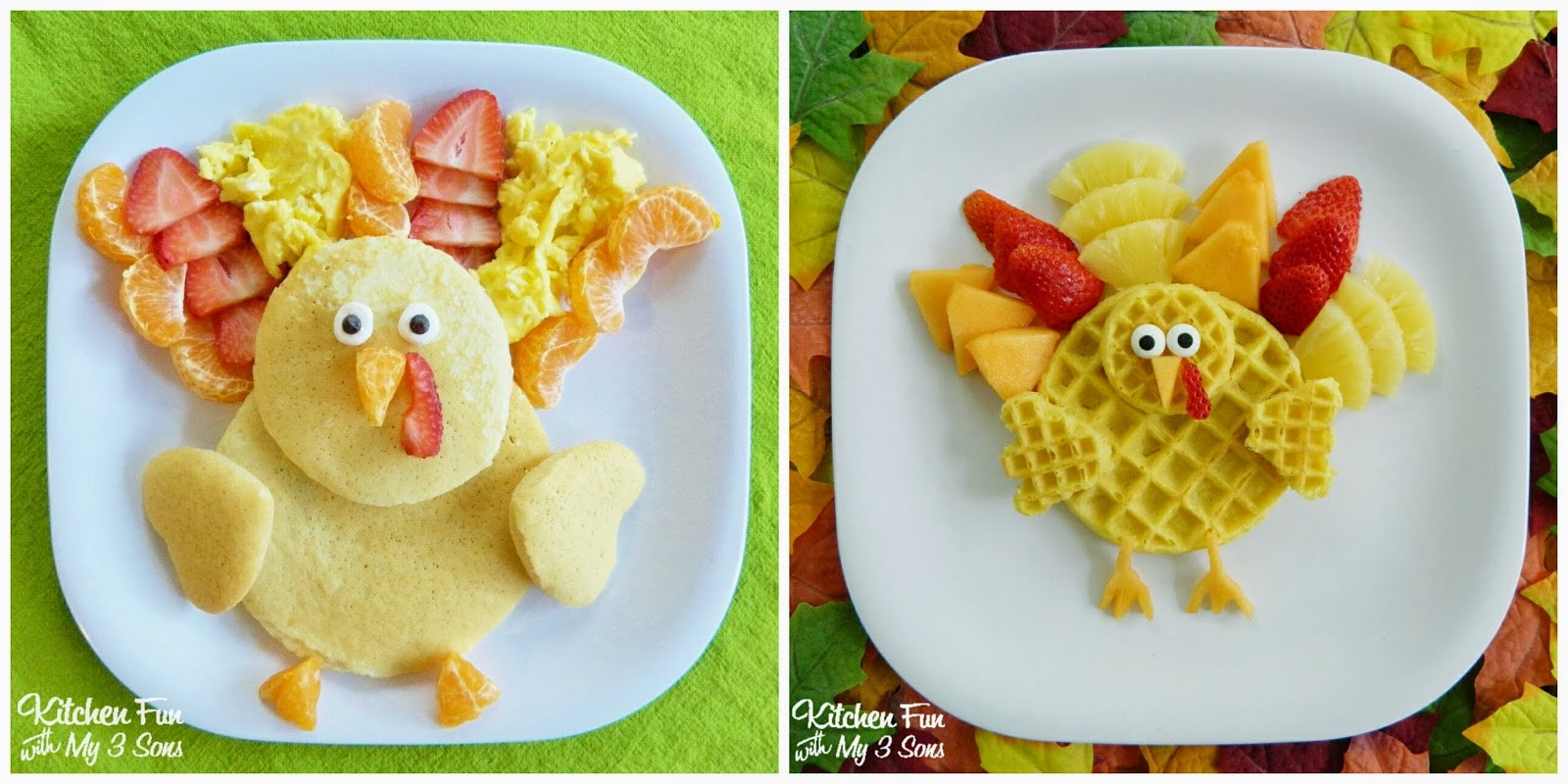 Thanksgiving Breakfast Menus  Thanksgiving Turkey Pancakes for Breakfast Kitchen Fun