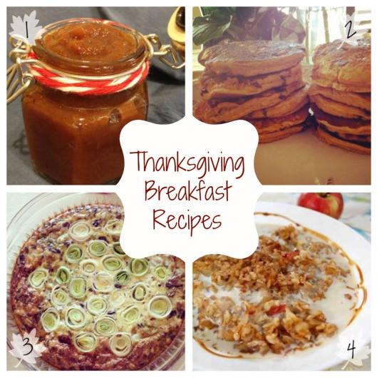 Thanksgiving Breakfast Menus  Thanksgiving Recipe Roundup