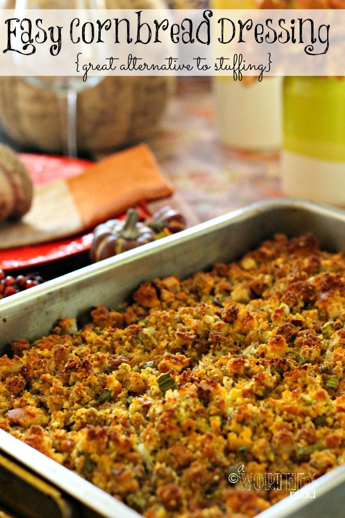 Thanksgiving Cornbread Recipe  Best Stuffing Recipe Easy Cornbread Dressing Recipe