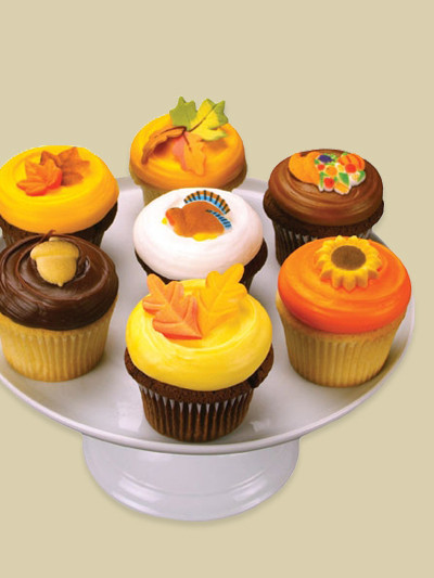 Thanksgiving Cupcakes Decorating Ideas  Decorating Idea Autumn Thanksgiving Cupcakes
