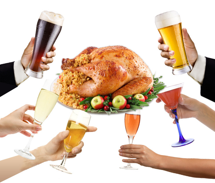 Thanksgiving Day Drinks  Surprise pairings Turkey Day drinks for the bold