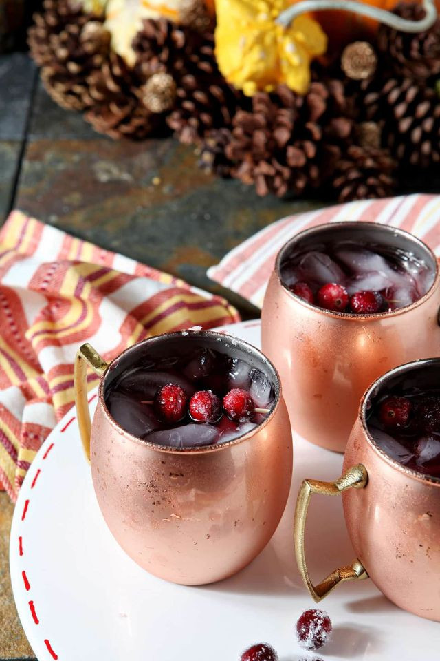 Thanksgiving Day Drinks  13 Cozy Fall Cocktails to Kick f Your Thanksgiving Dinner