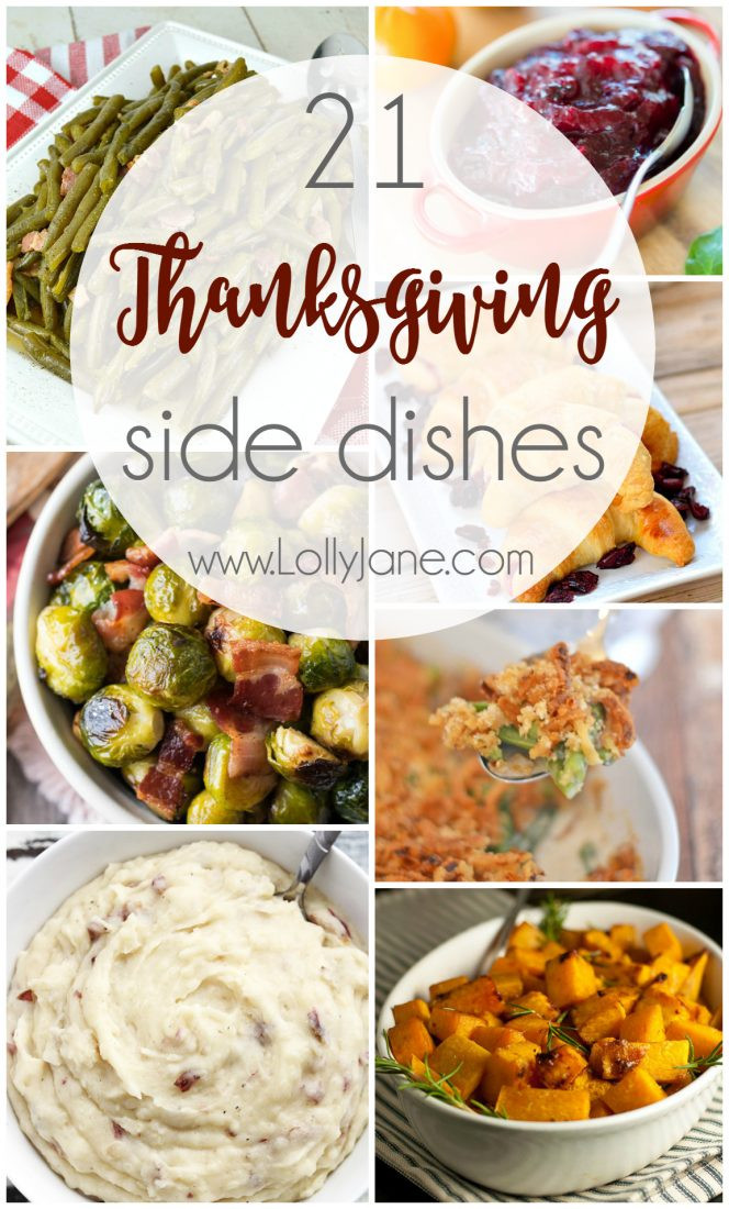 Thanksgiving Day Side Dishes  21 Thanksgiving Side Dishes Lolly Jane