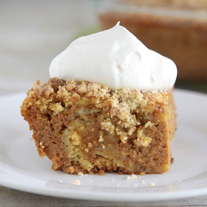 Thanksgiving Desserts For A Crowd  easy pumpkin pie cake recipe better than pumpkin pie